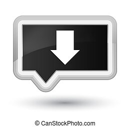 Download arrow icon prime black banner button