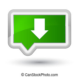 Download arrow icon prime green banner button