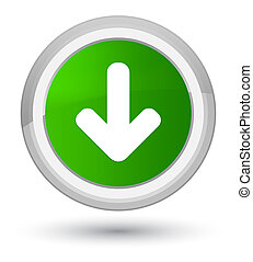 Download arrow icon prime green round button