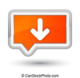 Download arrow icon prime orange banner button