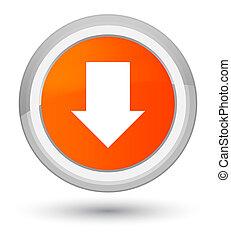 Download arrow icon prime orange round button