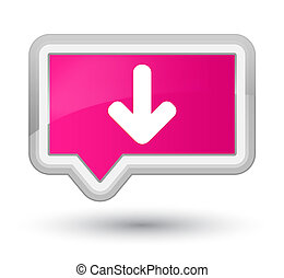 Download arrow icon prime pink banner button