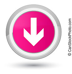 Download arrow icon prime pink round button