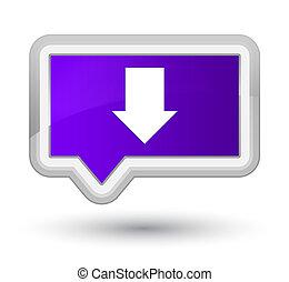 Download arrow icon prime purple banner button