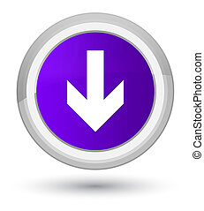 Download arrow icon prime purple round button
