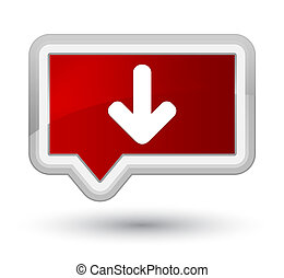Download arrow icon prime red banner button
