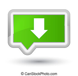 Download arrow icon prime soft green banner button