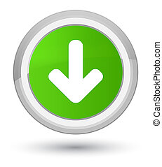 Download arrow icon prime soft green round button