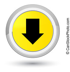 Download arrow icon prime yellow round button