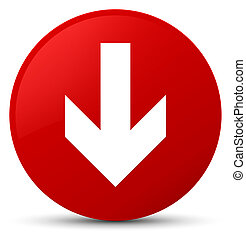 Download arrow icon red round button
