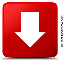 Download arrow icon red square button
