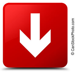 Download arrow icon red square button