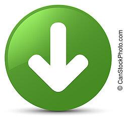Download arrow icon soft green round button