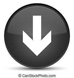 Download arrow icon special black round button