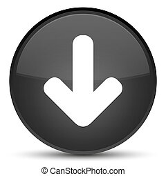 Download arrow icon special black round button