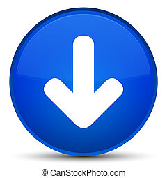 Download arrow icon special blue round button