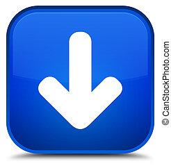 Download arrow icon special blue square button