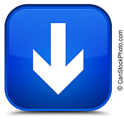 Download arrow icon special blue square button