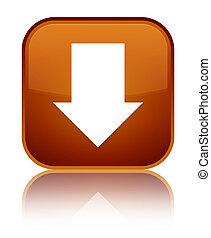 Download arrow icon special brown square button