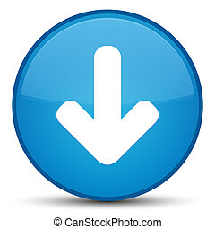 Download arrow icon special cyan blue round button