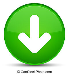Download arrow icon special green round button