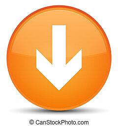 Download arrow icon special orange round button