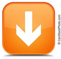 Download arrow icon special orange square button