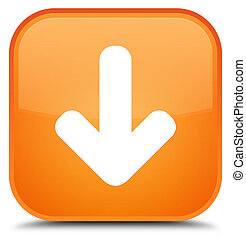 Download arrow icon special orange square button