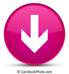 Download arrow icon special pink round button
