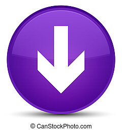 Download arrow icon special purple round button
