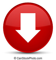 Download arrow icon special red round button