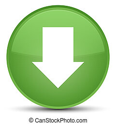 Download arrow icon special soft green round button