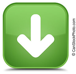 Download arrow icon special soft green square button