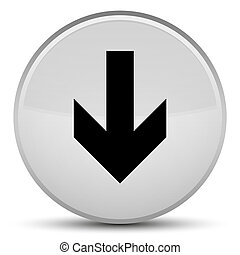 Download arrow icon special white round button