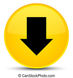 Download arrow icon special yellow round button