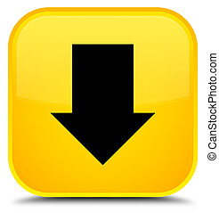 Download arrow icon special yellow square button