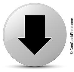 Download arrow icon white round button