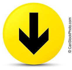 Download arrow icon yellow round button