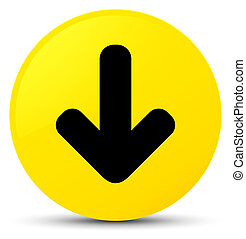 Download arrow icon yellow round button