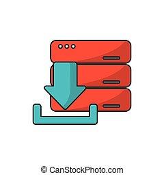 Download arrow of digital concept