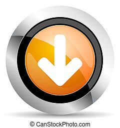 download arrow orange icon arrow sign