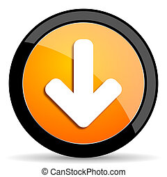 download arrow orange icon