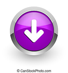 download arrow pink glossy web icon