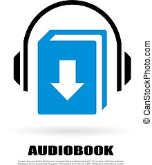Download audiobook vector icon