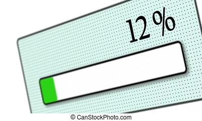 Download bar on white background - Tilted download bar...