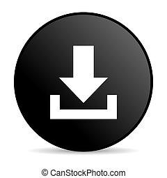 download black circle web glossy icon