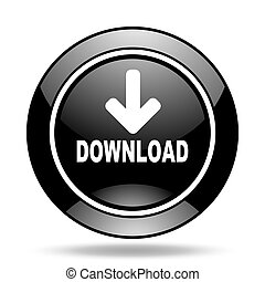download black glossy icon