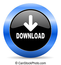 download blue glossy icon