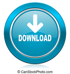 download blue icon
