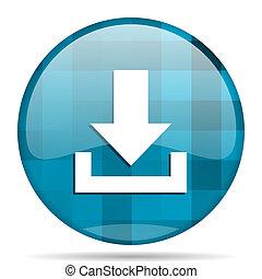 download blue round modern design internet icon on white background